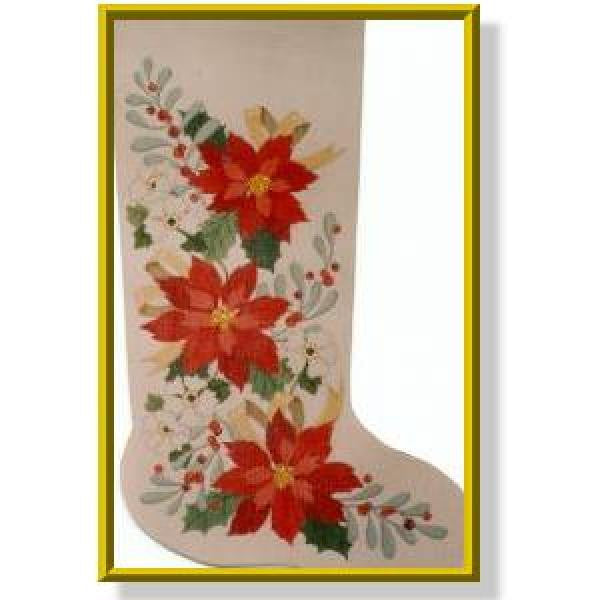 Poinsettia Stocking-CD922