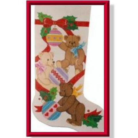 Bears & Ornaments Stocking-CD923
