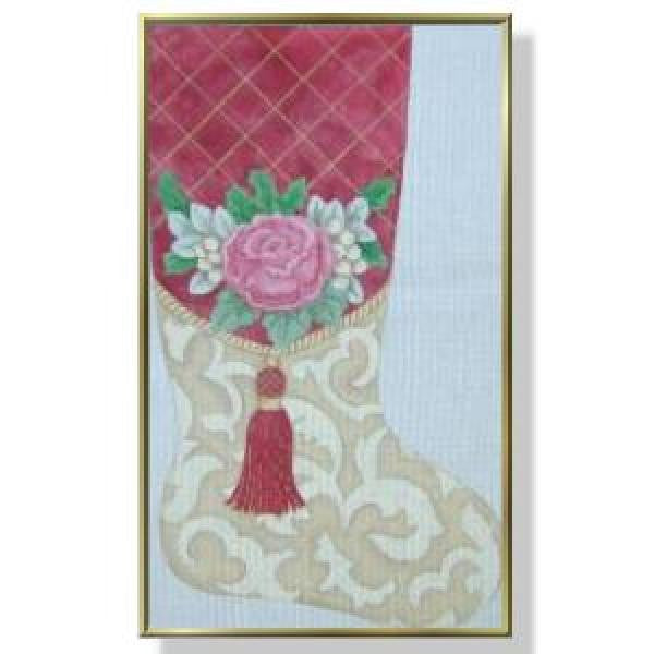 Rose with Tassel Stocking CM106