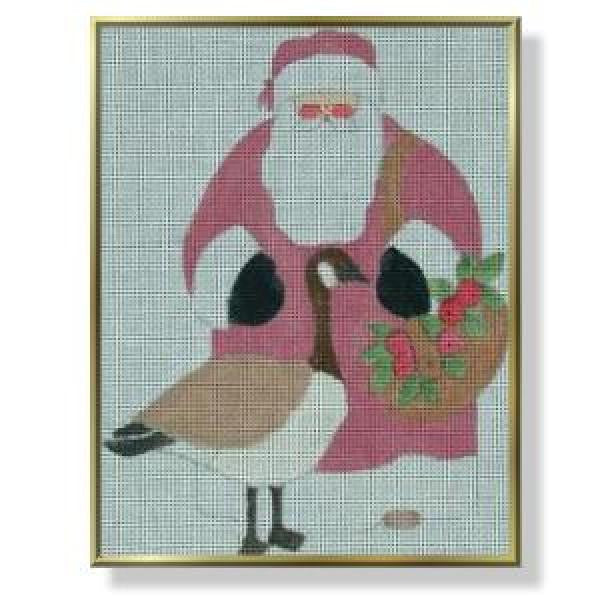 Father Christmas, Santa with Canadian Goose-CM401