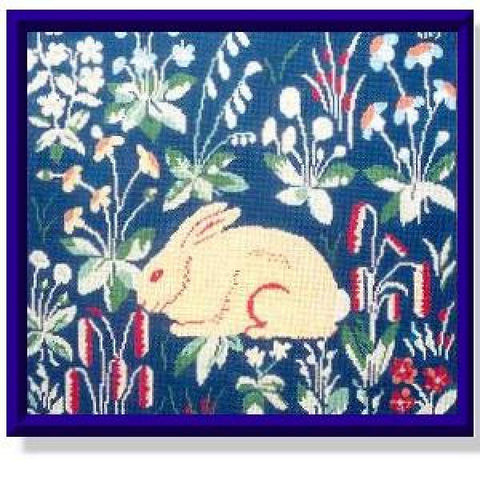 Medieval Bunny Blue Background-CRS107