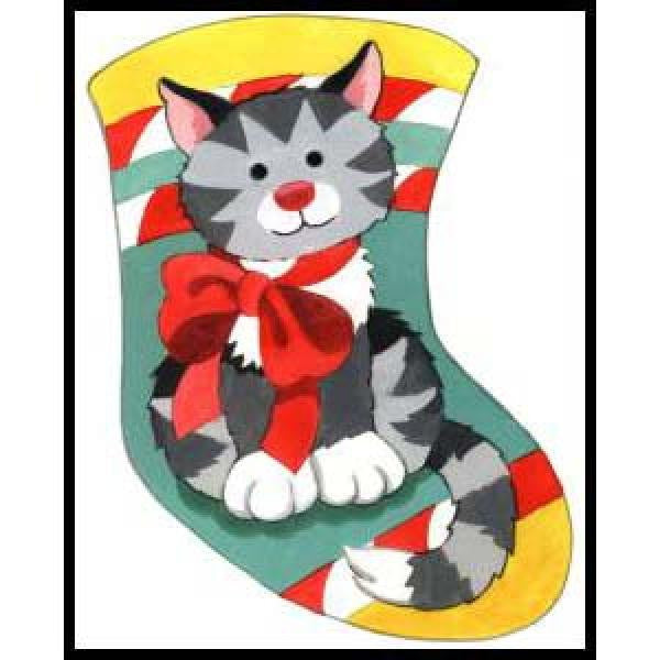 Tabby Cat Stocking-MS136