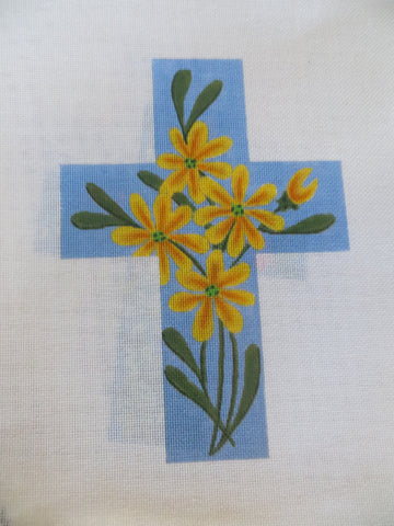 LARGE CROSS with YELLOW FLOWERS