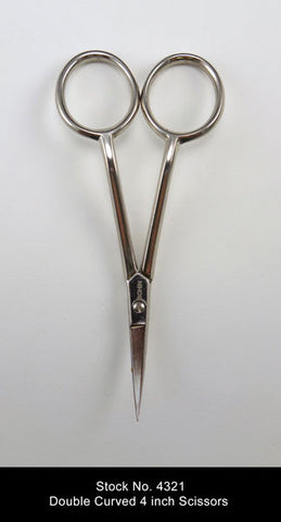 "Bohin 4"" Double Curve Scissors"