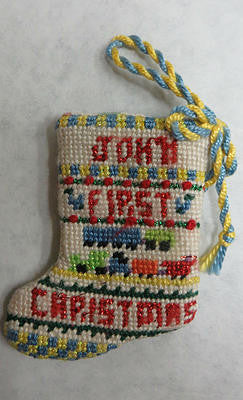 First Christmas boy mini-stocking