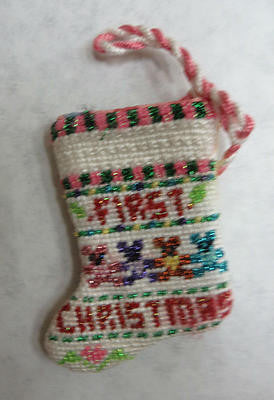 First Christmas mini-stocking