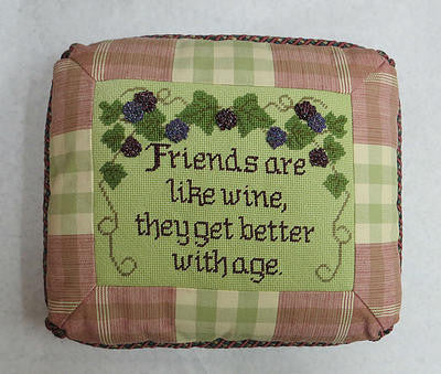 Friends are like wine