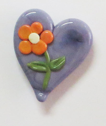 ORANGE FLOWER HEART