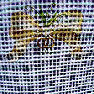 Ring Bearer Pillow with Bow and Rings