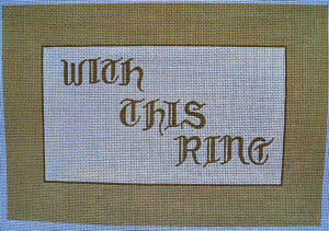 """With This Ring"" Ring Bearer Pillow"