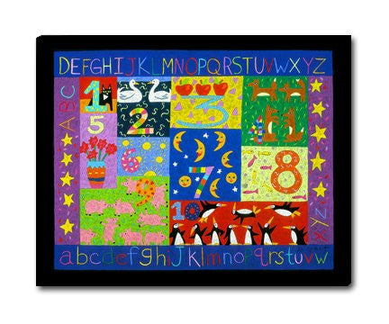 "Numbers and Letters 20x24"" on 13 mesh"