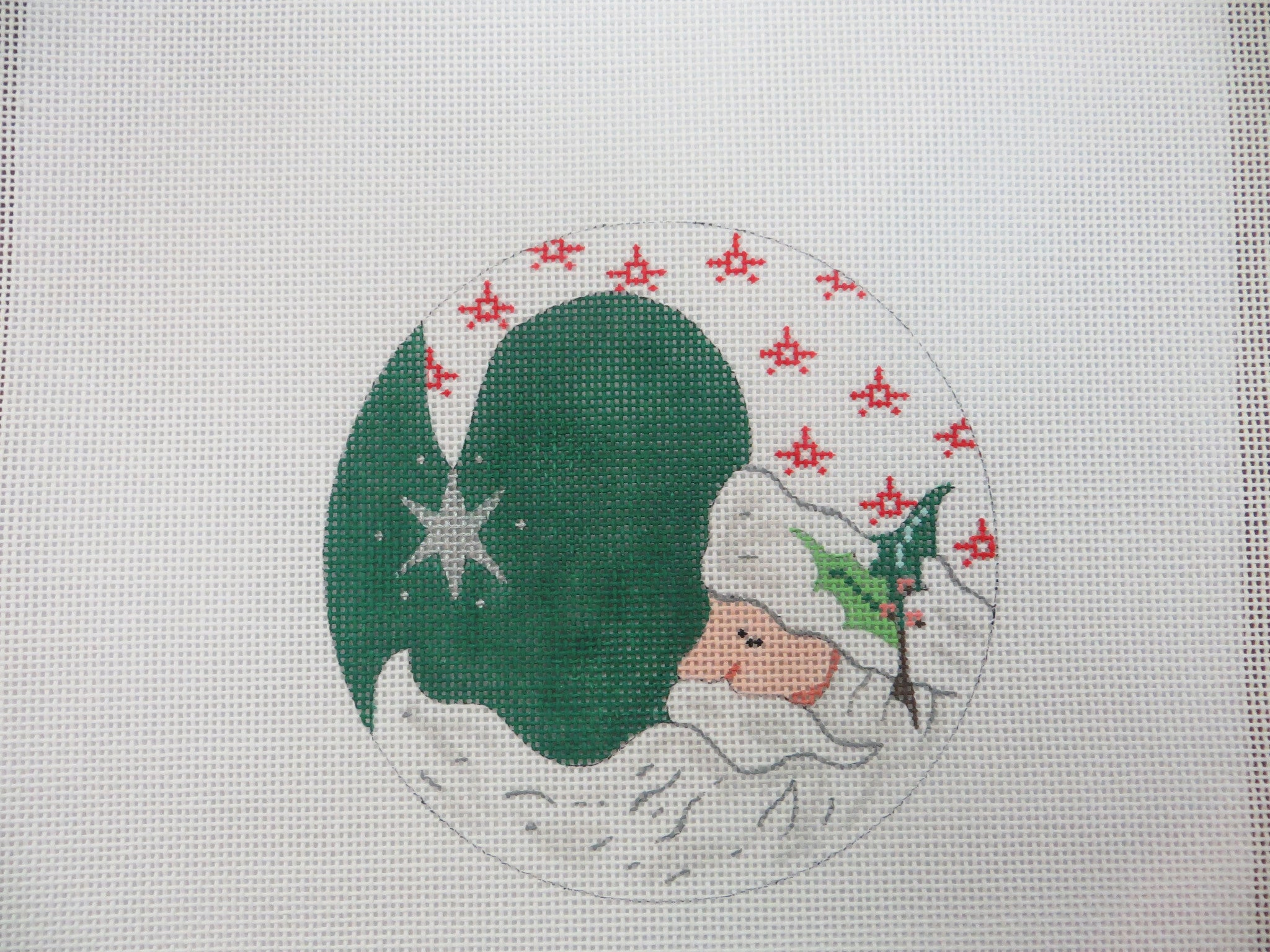 Green Santa Ornament