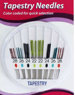 Tapestry Needles color coded