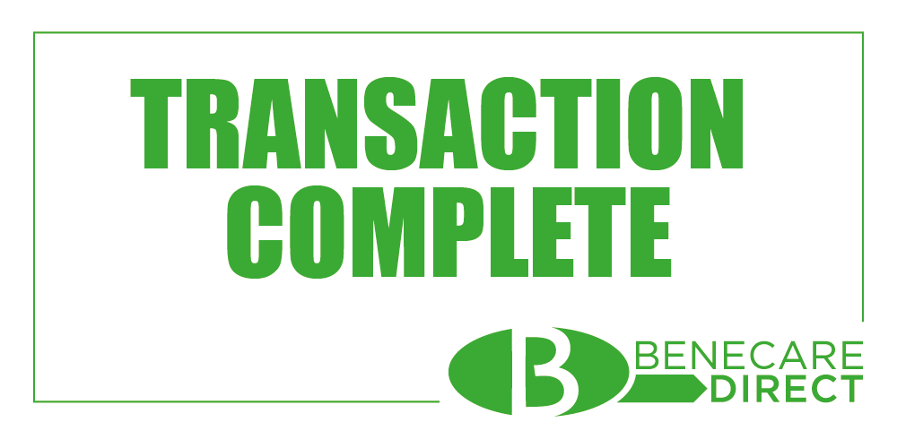 benecare direct, transaction complete,