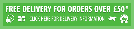 free delivery when you spend £50 - click for delivery information