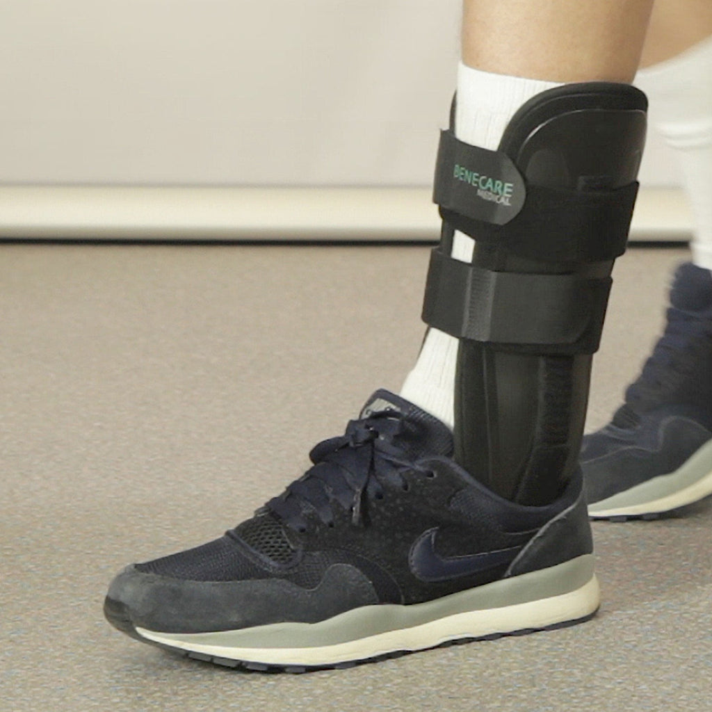 The Benecare Memory Ankle Brace provides comfort and support for numerous ankle injuries.