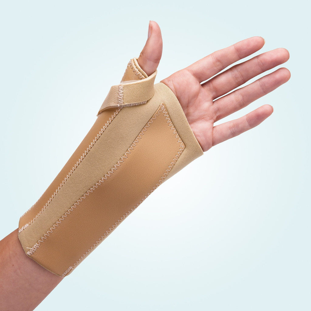 The Benecare Neoprene Open Wrist/Thumb Support, protects and supports the wrist and thumb.