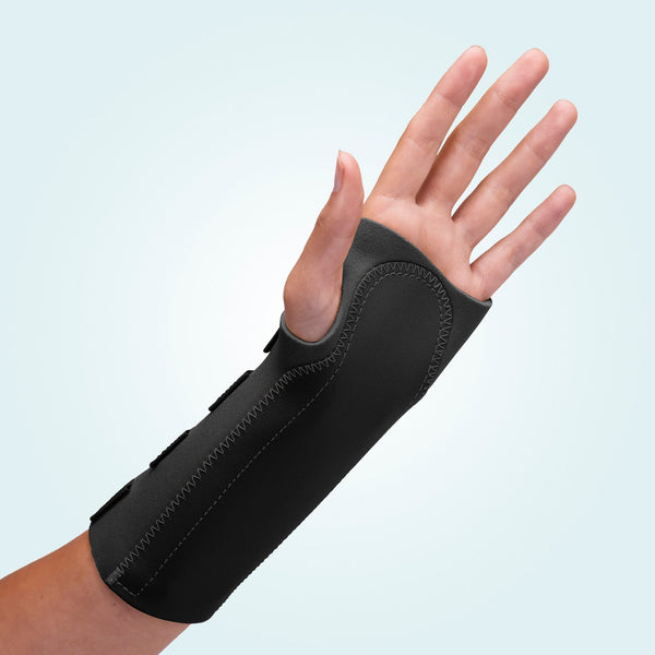 Black neoprene Wrist Support 9""