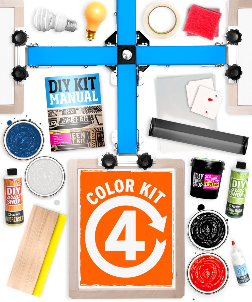 4-Color Screen Printing Kit