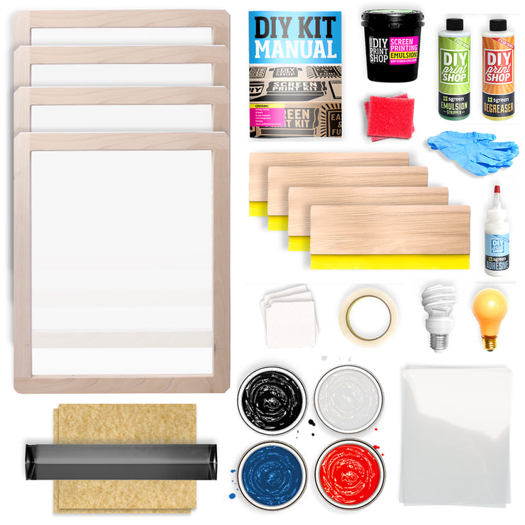 NEW! 4-Color Screen Printing Kit