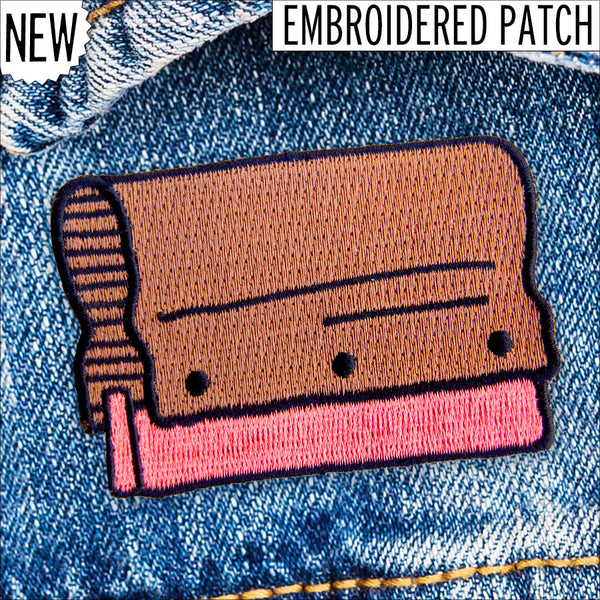Squeegee Embroidered Patch by Yardsale Press