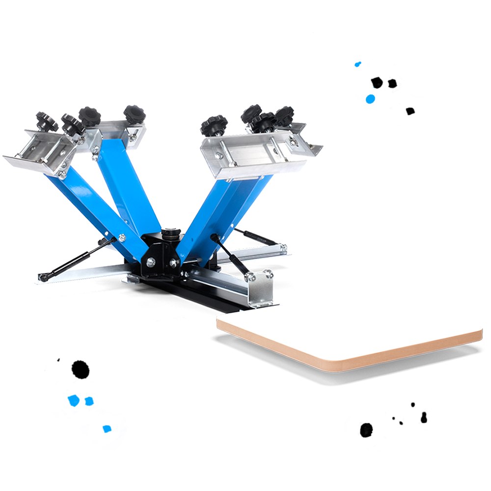 DIY Print Shop® 4-Color Screen Printing Press