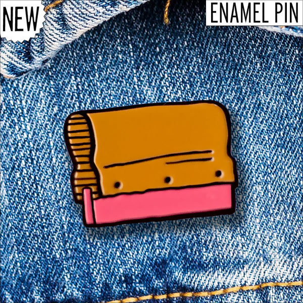 Enamel Squeegee Pin by Yardsale Press