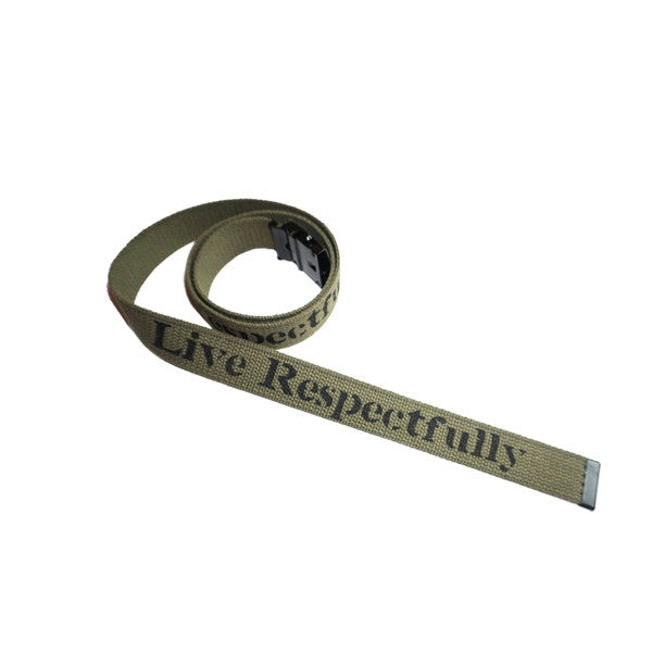 Live Respectfully Military Belt