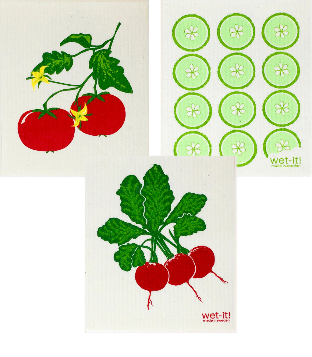Swedish Treasures Wet-it! - 3 packs - Tomato, Cucumber, Radish