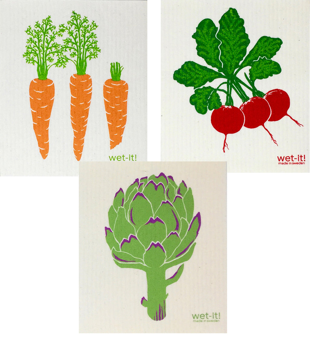 Swedish Treasures Wet-it! - 3 packs - Carrots, Radish & Artichoke