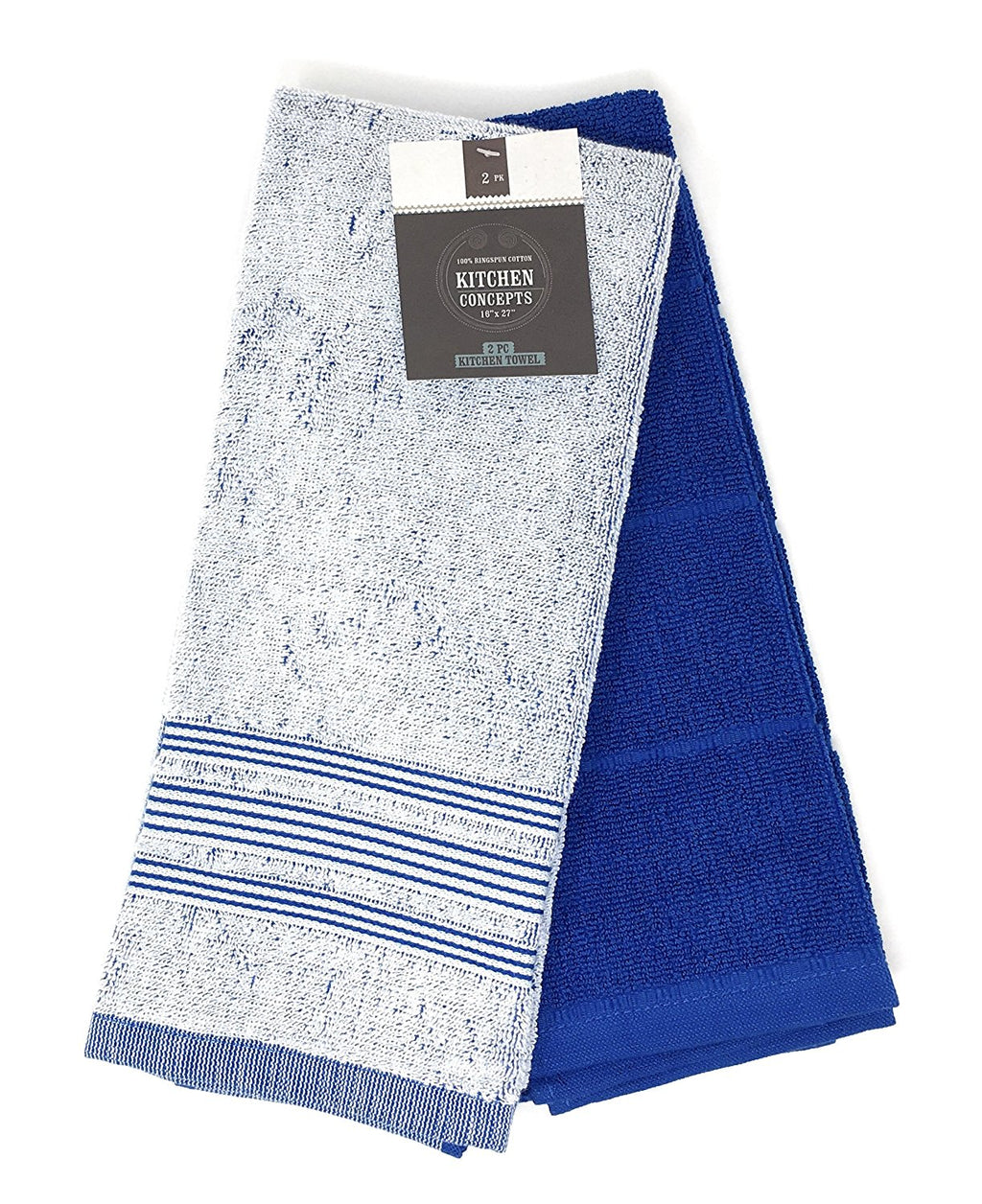 Kitchen Concepts Chambray 2 Piece Kitchen Towel Set (Blue, 1 Set)
