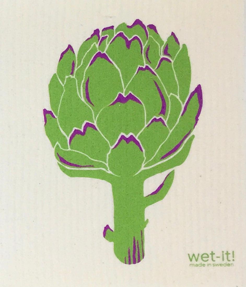 Swedish Treasures Wet-it! Dishcloth & Cleaning Cloth - Artichoke