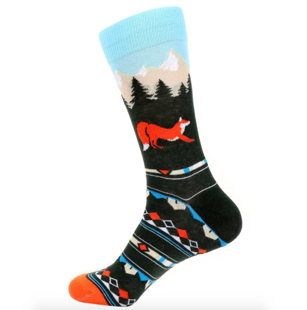 Urban-Peacock Men's Novelty Crew Socks - Fox