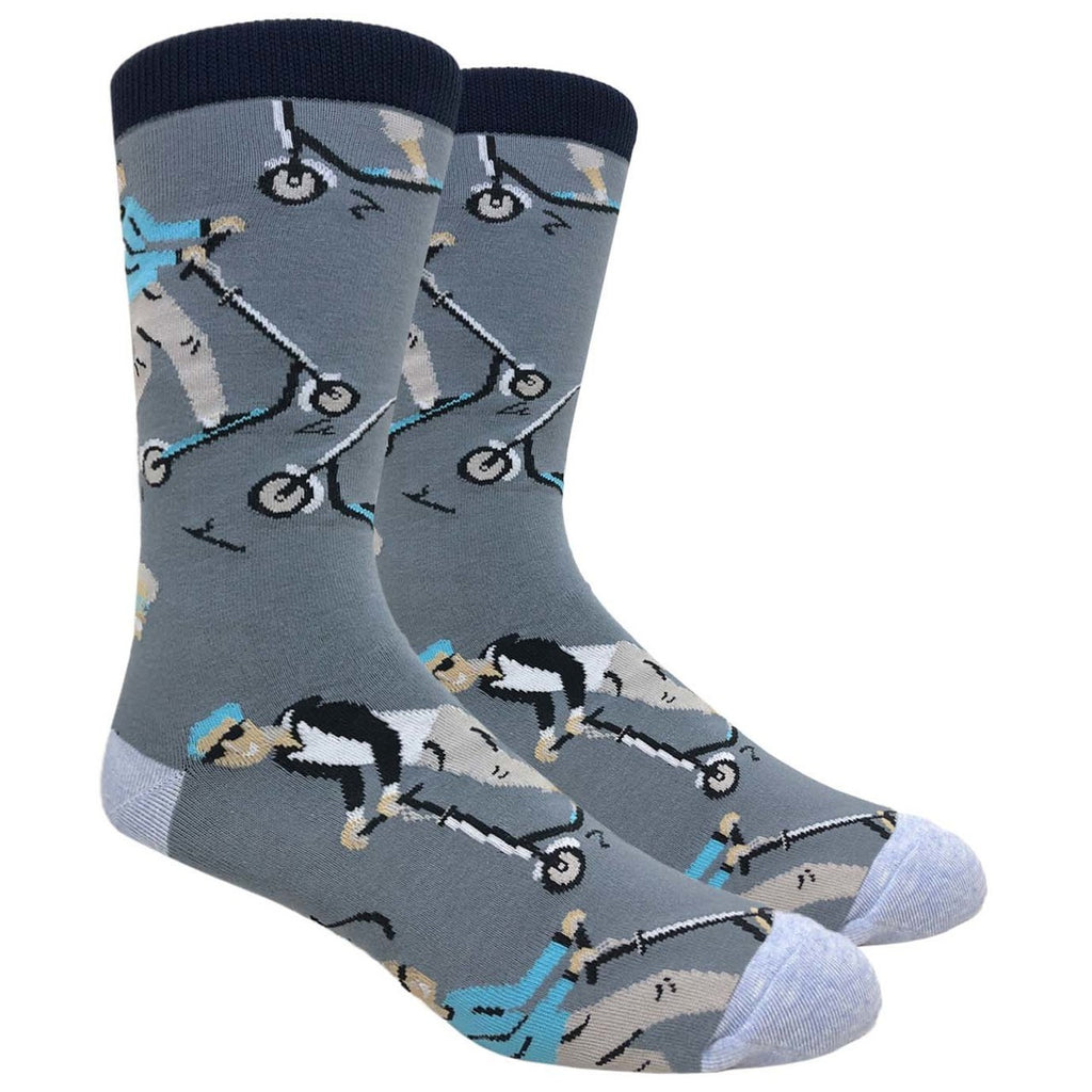 Men's Novelty Crew Socks - Scooters