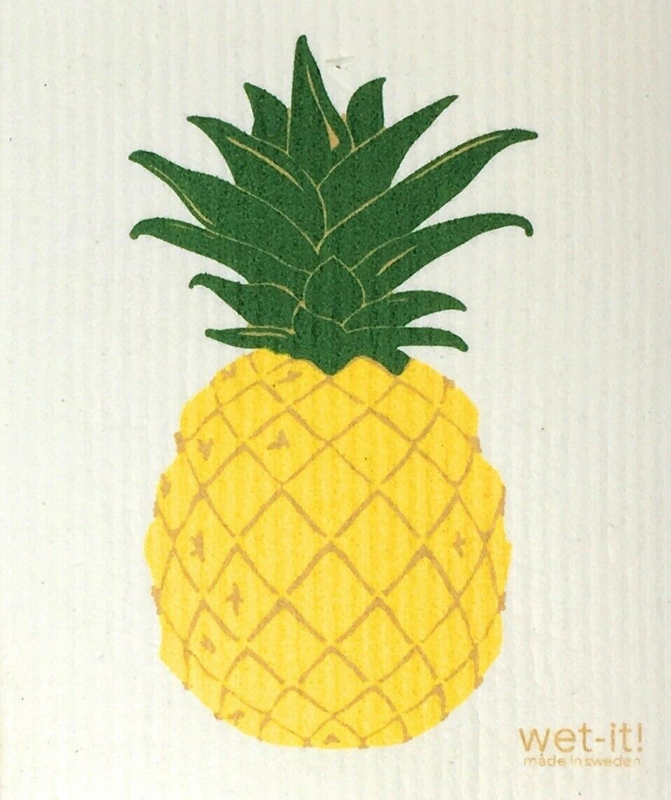 Swedish Treasures Wet-it! Dishcloth & Cleaning Cloth - Pineapple
