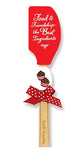 Brownlow Gifts Kitchen Buddies 2-Piece Silicone Spatula Set - Food & Friendship
