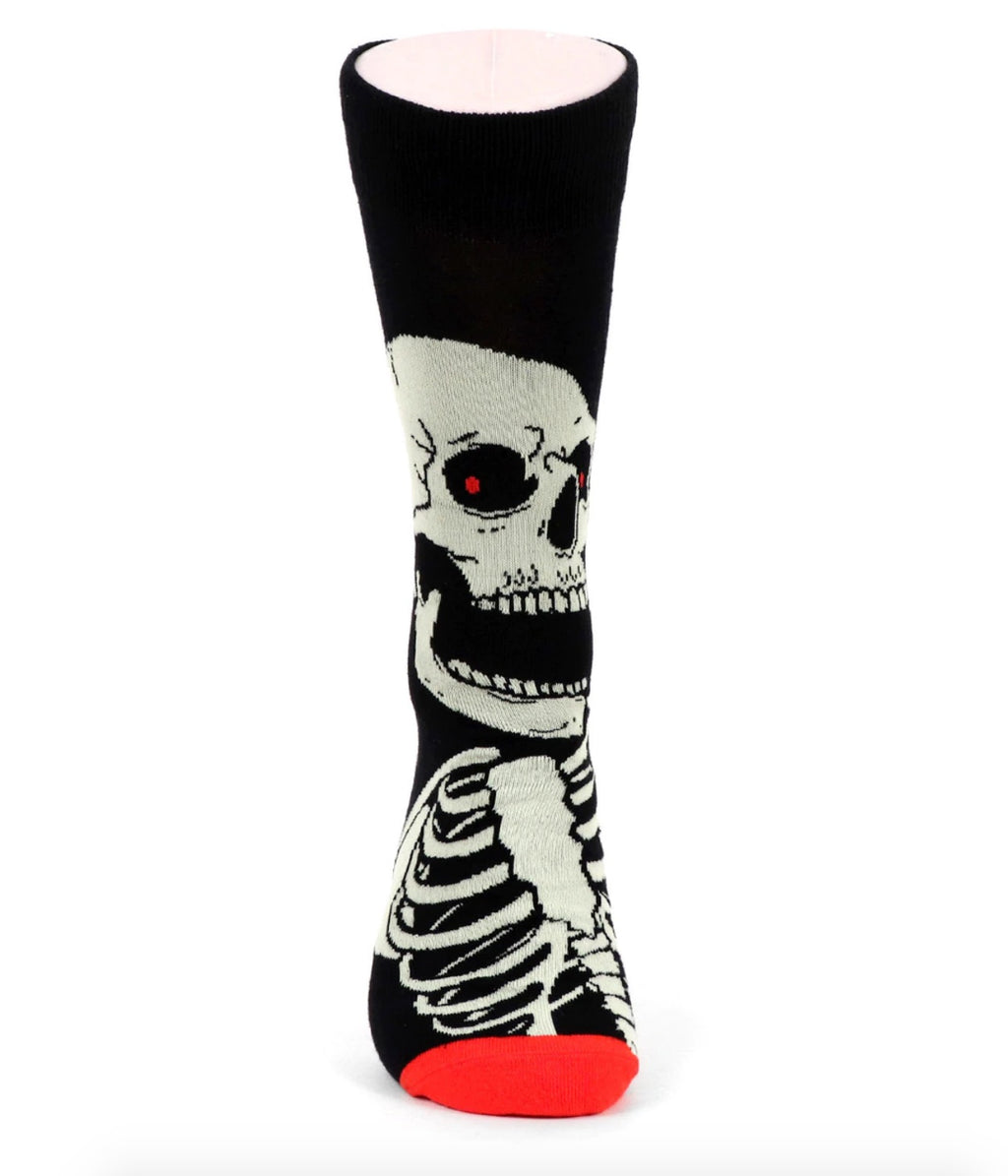 Urban-Peacock Men's Halloween Novelty Socks - Skeleton