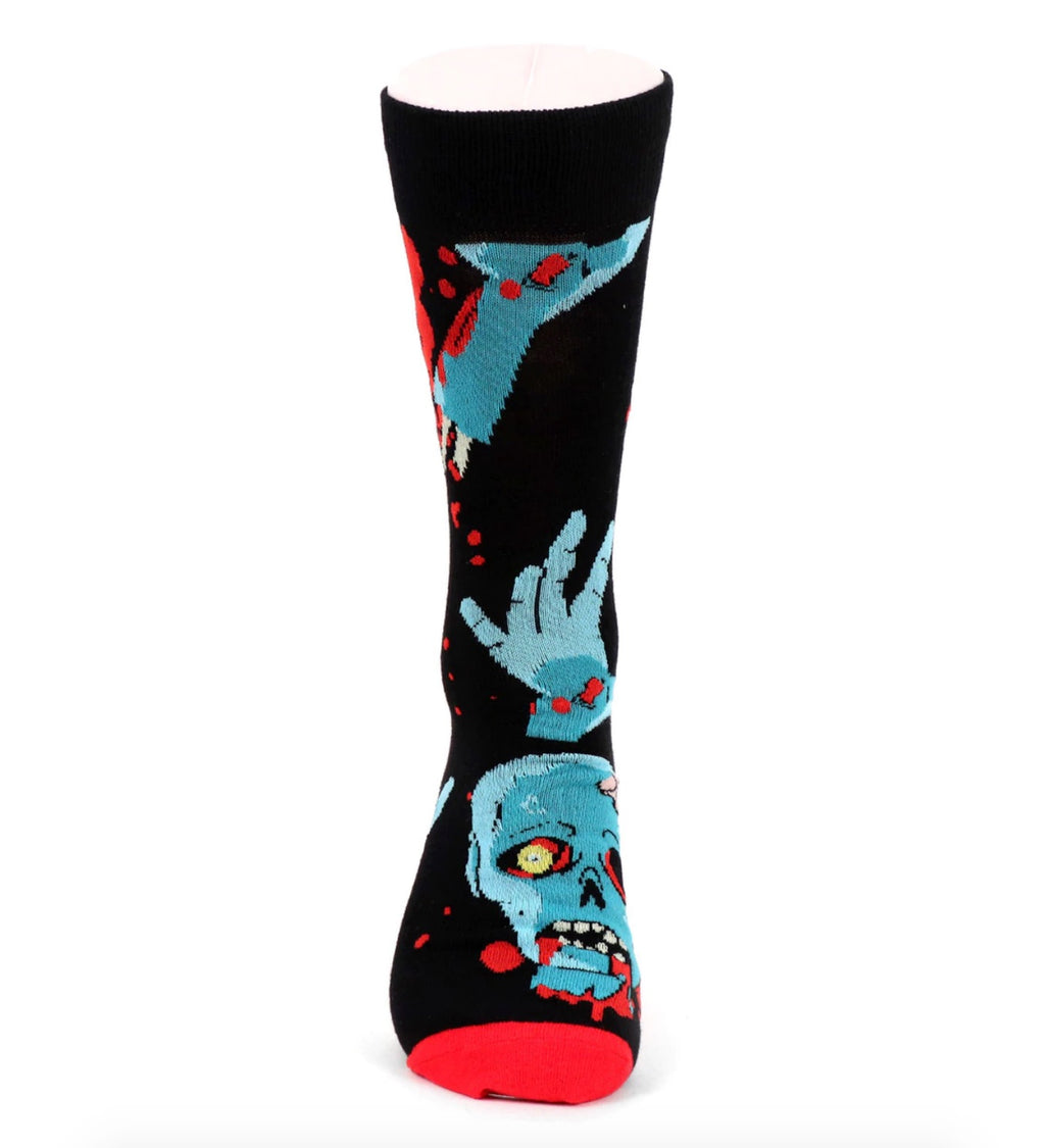 Urban-Peacock Men's Halloween Novelty Socks - Zombie - Black