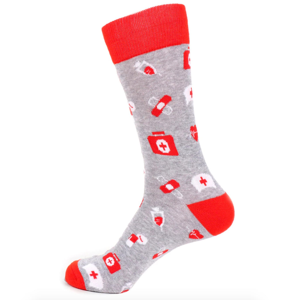 Urban-Peacock Men's Novelty Crew Socks - Nurse Healhcare