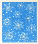 Swedish Treasures Wet-it! Dishcloth & Cleaning Cloth - Winter Snow Blue