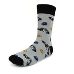 Men's Novelty Crew Socks - Police Officer - Grey