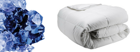 Amythest and Folded White Duvet Insert