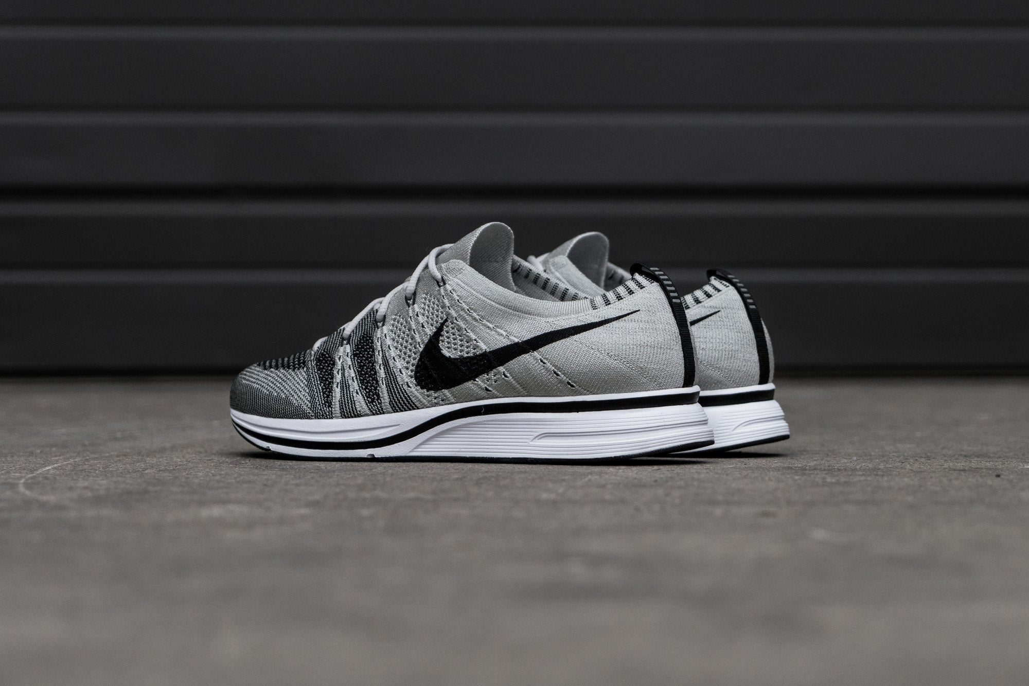 5cc2028cba8498 ... Nike Flyknit Trainer - Pale Grey at Notre ...