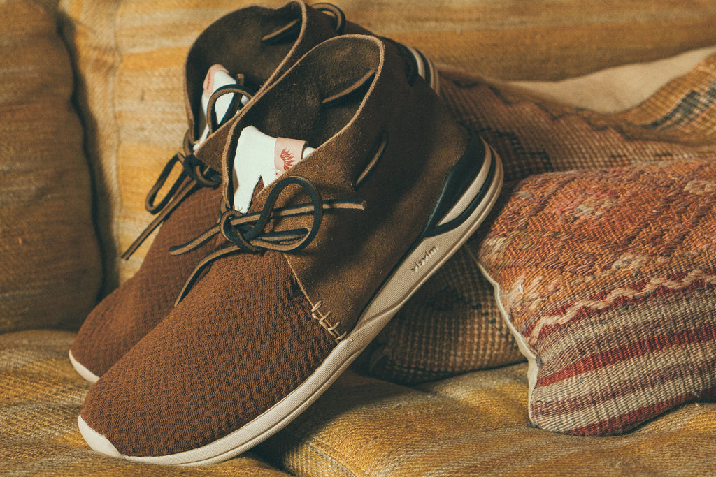 Huron Mesh Moc-Folk in Brown