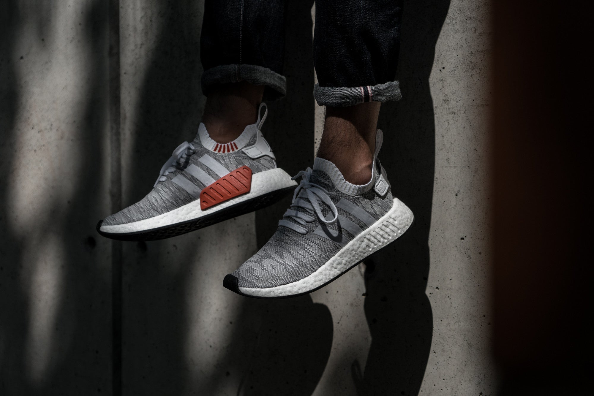 Notre Shop:  adidas NMD R2 Primeknit in Running White sku BY9410-7