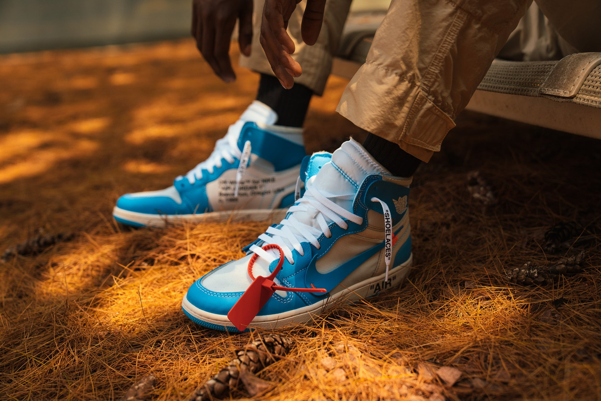 1a1b1bcf624c Virgil Abloh x Air Jordan 1  Powder Blue  Online Raffle
