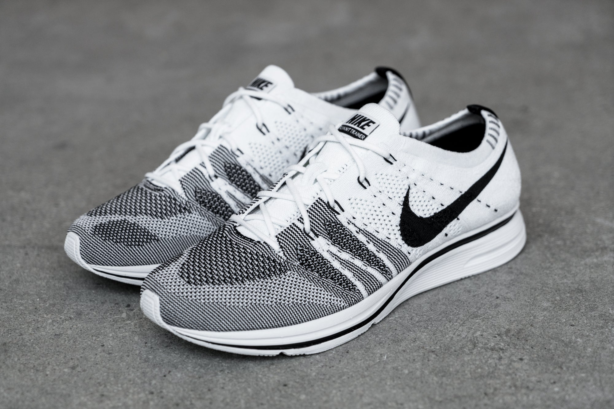 Nike OG Flyknit Trainer Black & White Rerelease
