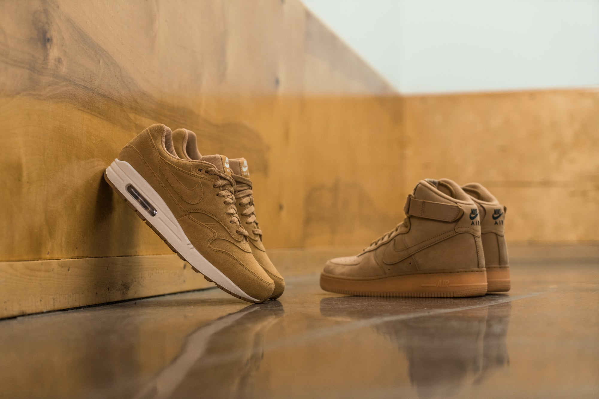 Nike 'Flax Pack' AM1 and AF1 High