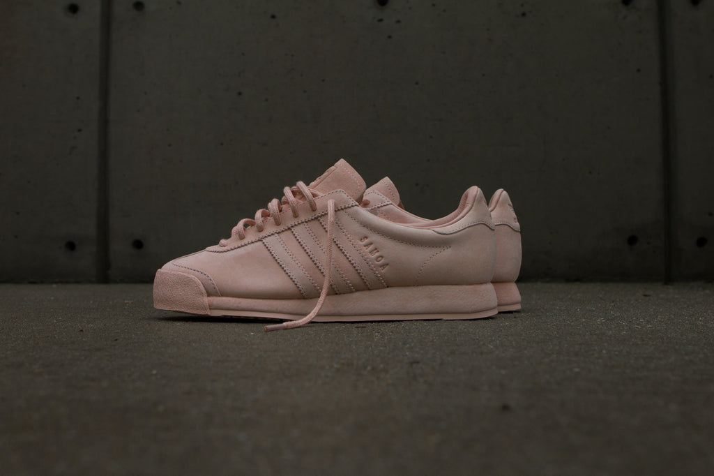 Adidas Originals x Woodie White Samoa 'Pigskin Pack' - Vapour Pink Side