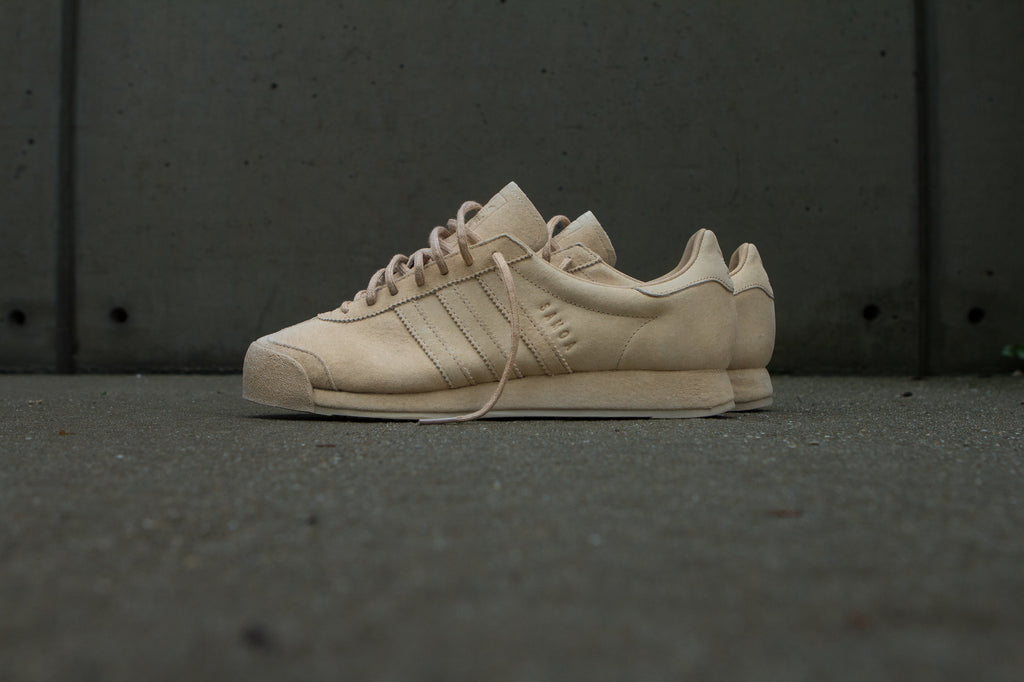 Adidas Originals x Woodie White Samoa 'Pigskin Pack' - Pale Nude Side